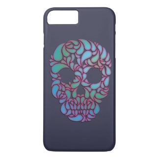 青、緑およびピンクの涙キャンデーのスカル iPhone 8 PLUS/7 PLUSケース
