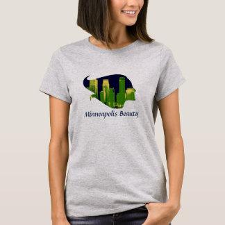 青、緑のミネアポリスの美しい、および黄色 Tシャツ