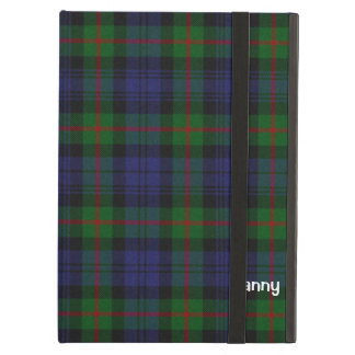 青、緑、及び赤いマレーのタータンチェック格子縞のカスタム iPad AIRケース