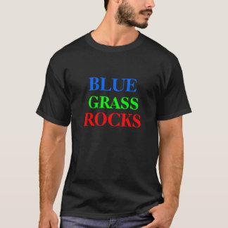 青、草、石 Tシャツ