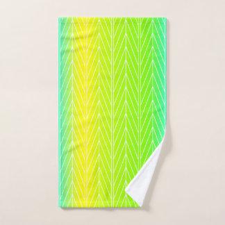 青、黄色及び緑の抽象芸術の葉-タオルセット バスタオルセット