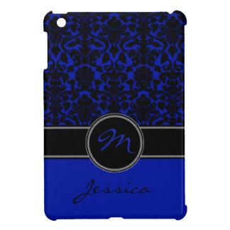 青、黒く、白いダマスク織のiPad Miniケース iPad Miniケース