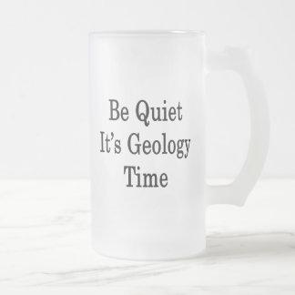 静かがそれあります地質学の時間があって下さい フロストグラスビールジョッキ