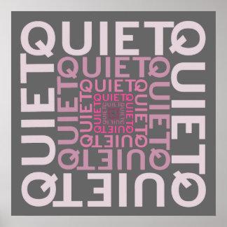静かなピンクの単語の雲 ポスター