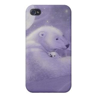 静かな冬の白くまのiphone 4ケース iPhone 4/4Sケース