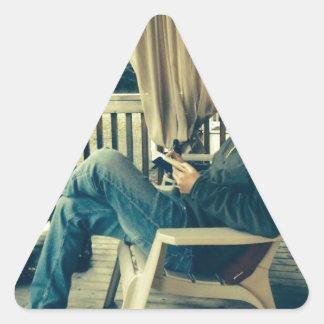 静かな夕べに何もしないでいること 三角形シール