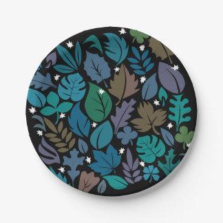 静かな夜の紙皿 ペーパープレート