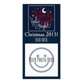 静かな夜クリスマスの写真カード カード