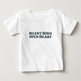 静かな心の文字-ベビーのTシャツ ベビーTシャツ