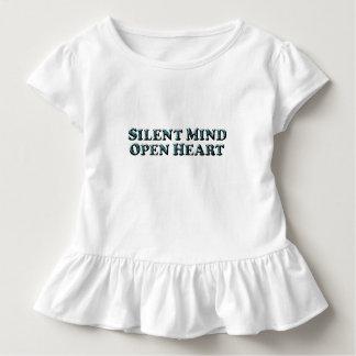 静かな心の文字-幼児のひだのティー トドラーTシャツ