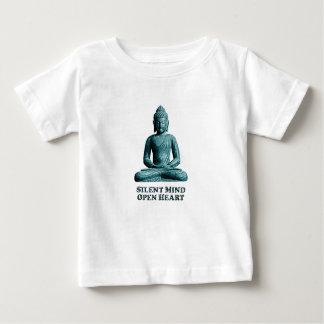静かな心-ベビーのTシャツ ベビーTシャツ