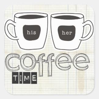 静かな時のコーヒー時間 スクエアシール