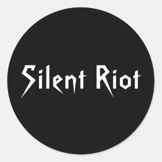 静かな暴動のステッカー ラウンドシール