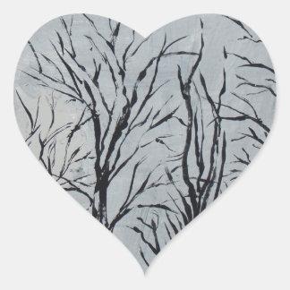 静かな木 ハートシール
