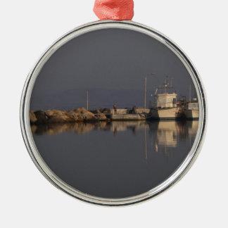 静かな港 メタルオーナメント