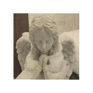 静かな祈りの言葉-天使の芸術のMarjorie ウッドウォールアート