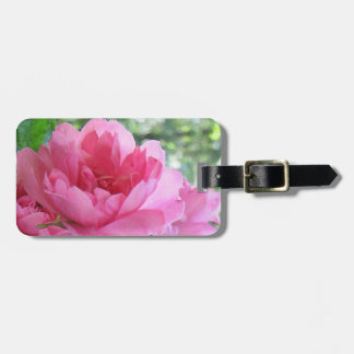 静かにピンクのバラ ラゲッジタグ