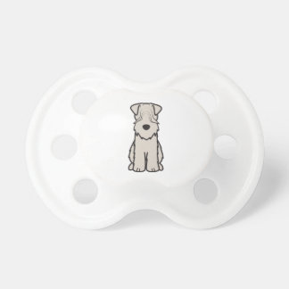 静かに上塗を施してあるWheatenテリア犬の漫画 おしゃぶり