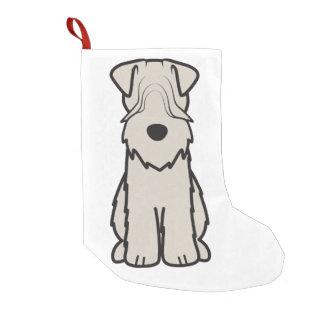 静かに上塗を施してあるWheatenテリア犬の漫画 スモールクリスマスストッキング