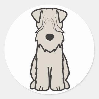 静かに上塗を施してあるWheatenテリア犬の漫画 ラウンドシール