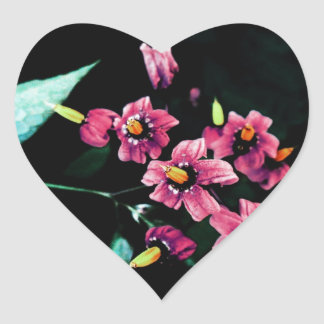 静かに咲きます ハートシール