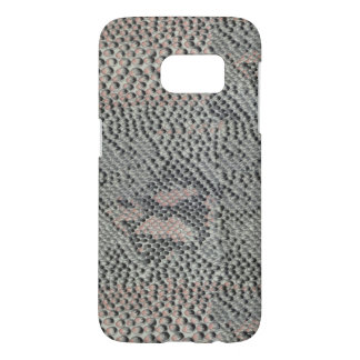 静かに灰色およびピンクのスネークスキンパターン SAMSUNG GALAXY S7 ケース
