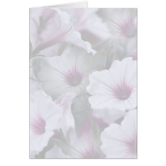 静かに白く、ピンクの挨拶状 カード