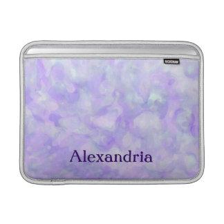 静かに紫色および青のガーリーな抽象芸術 MacBook スリーブ