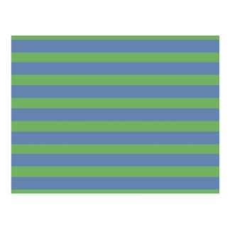 静かに緑およびタマキビの縞模様 ポストカード