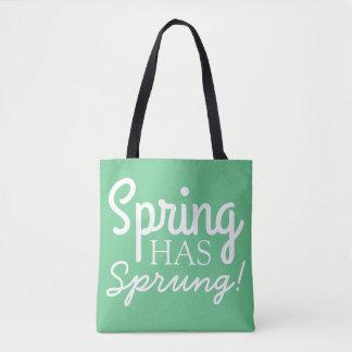 静かに緑の春ははねた|のおもしろいの引用文のトートバックを備えています トートバッグ