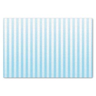 静かに青および白のストライプ 薄葉紙