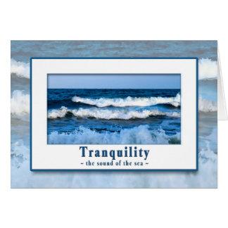 静けさ-海の多目的カードの音 カード