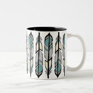 静まる羽のコーヒー・マグ ツートーンマグカップ