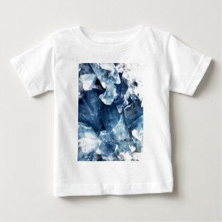 静まる青いミネラル水晶石 ベビーTシャツ