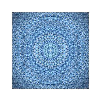 静まる青い曼荼羅のキャンバスのプリント キャンバスプリント