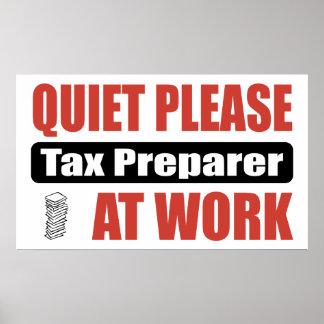 静寂は仕事で税準備者を ポスター