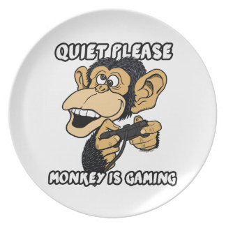 静寂は、猿賭博です プレート
