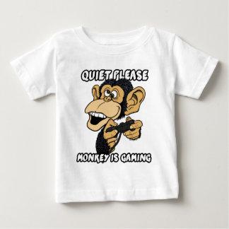 静寂は、猿賭博です ベビーTシャツ