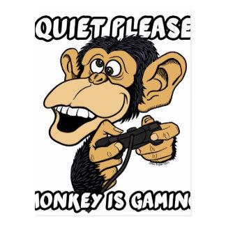 静寂は、猿賭博です ポストカード
