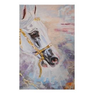 静止したアラビアの馬 便箋