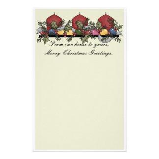 静止したクリスマス 便箋