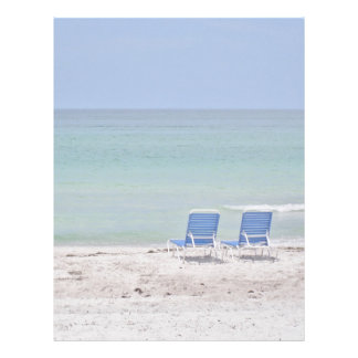 静止したビーチの椅子 レターヘッド