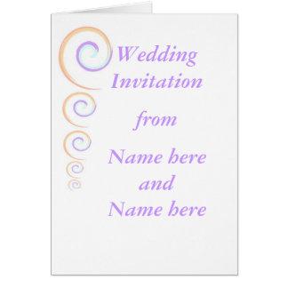 静止したモダンなねじれの結婚招待状RSVP カード