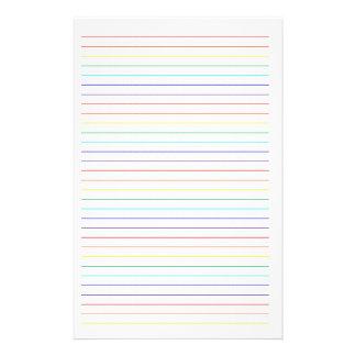 静止した虹によって並べられるシンプル 便箋