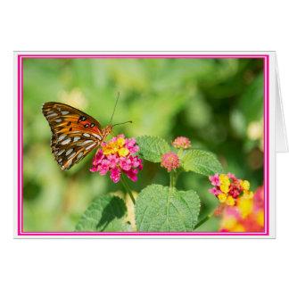 静止した蝶チャールストンSCのメッセージカード カード