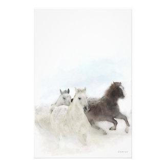 静止した雪の馬- 便箋