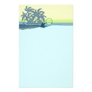 静止している大きい日没のハワイアン 便箋