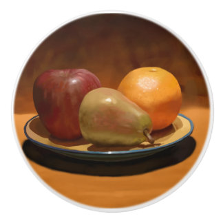 静物画のフルーツの整理のドア・ノブ セラミックノブ
