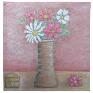 静物画の花 ナプキンクロス