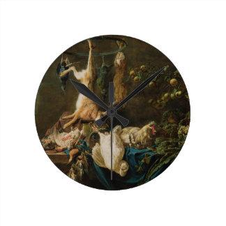 静物画の芸術の柱時計 ラウンド壁時計